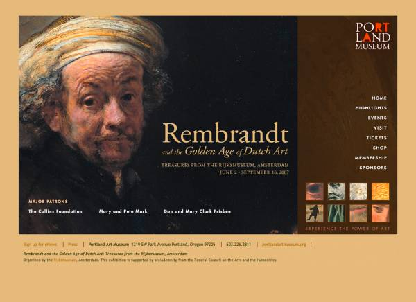Portland Art Museum Rembrandt Exhibition :: Design & Development